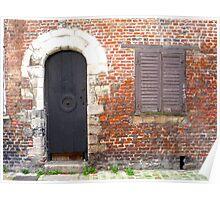 En face de l'église. Dans le vieux Lille Poster