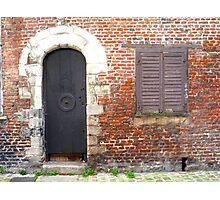En face de l'église. Dans le vieux Lille Photographic Print