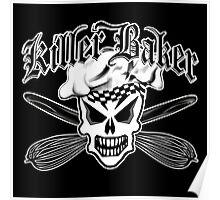 Baker Skull 2: Killer Baker and Crossed Whisks Poster