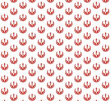 Rebels Segmented Logo (White Background, Pattern 2) by JoshBeck
