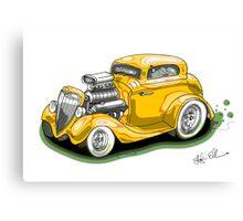 HOT ROD BEAST V8 CHEV STYLE yellow Canvas Print