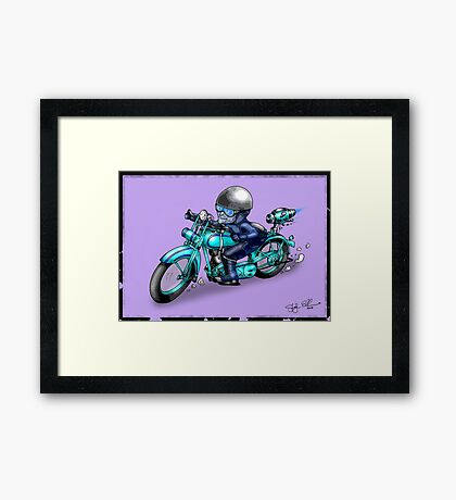 MOTORCYCLE CLASSIC HARLEY STYLE Framed Print