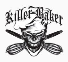 Funny Baker Skull 10: Killer Baker and Crossed Whisks by sdesiata