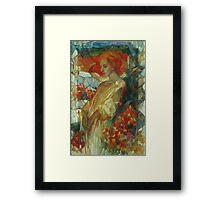 "sumac ""Rhus coriaria""  Framed Print"