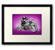 PSYCHEDELIC HARLEY STYLE MOTORCYCLE DESIGN Framed Print