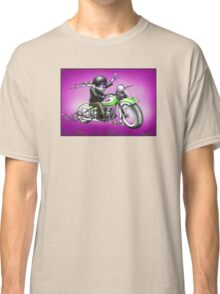 PSYCHEDELIC HARLEY STYLE MOTORCYCLE DESIGN Classic T-Shirt