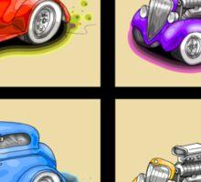 HOT ROD FOUR PACK CAR DESIGN Sticker