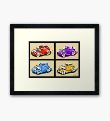 HOT ROD FOUR PACK CAR DESIGN Framed Print