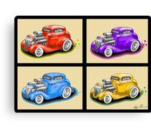 HOT ROD FOUR PACK CAR DESIGN Canvas Print