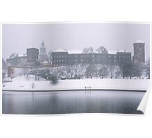 Wawel Castle in winter, Krakow Poster
