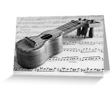 Wooden Toy Guitar Greeting Card