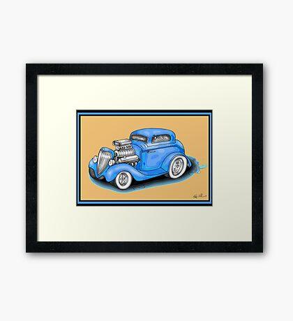 HOT ROD CAR DESIGN Framed Print