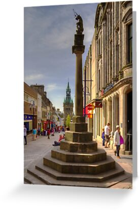 Mercat Cross and City Chambers by Tom Gomez