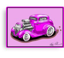 HOT ROD CHEV STYLE CAR PINK Canvas Print