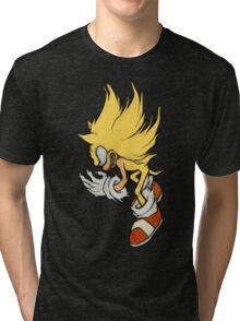 Super Sonic  - Fleetway Sonic the Comic (01) Tri-blend T-Shirt