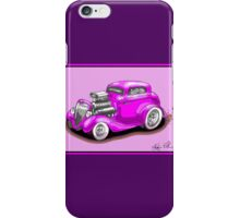 HOT ROD CHEV STYLE CAR PINK iPhone Case/Skin