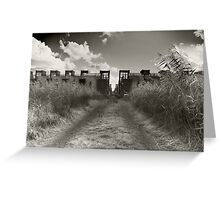 Dirt Track To Suburbia Greeting Card