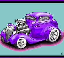 HOT ROD CHEV STYLE CAR by squigglemonkey