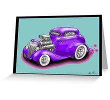 HOT ROD CHEV STYLE CAR Greeting Card