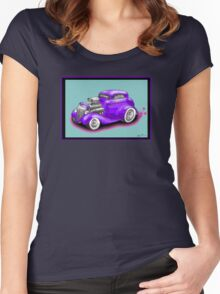 HOT ROD CHEV STYLE CAR Women's Fitted Scoop T-Shirt