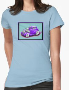 HOT ROD CHEV STYLE CAR Womens Fitted T-Shirt