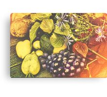 Autumn Food Canvas Print