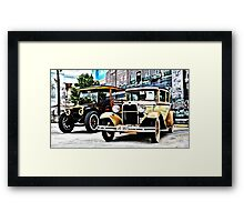 The Antique Car Duo Framed Print