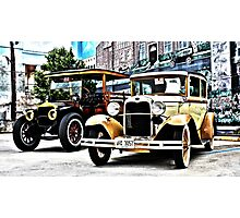 The Antique Car Duo Photographic Print