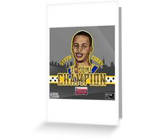 THREE POINT CHAMPION - Stephen Curry - SMILE DESIGN 2015 Greeting Card