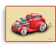 HOT ROD CAR CHEV STYLE RED Canvas Print