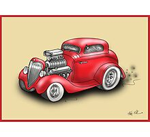 HOT ROD CAR CHEV STYLE RED Photographic Print