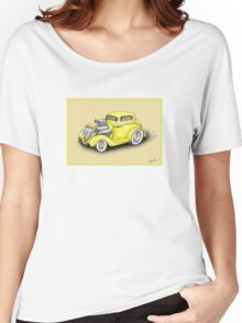 HOT ROD CAR CHEV STYLE YELLOW Women's Relaxed Fit T-Shirt