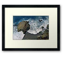 Huge Rock Framed Print