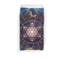 Metatron's Cube - Merkabah - Peace and Balance Duvet Cover