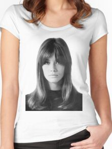 Françoise Hardy Women's Fitted Scoop T-Shirt