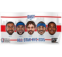 TEAM EAST - All Star NYC 2015 - SMILE DESIGN  Poster
