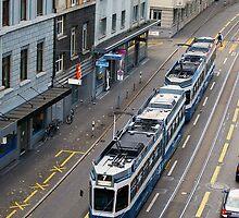 Zurich tram by shakey