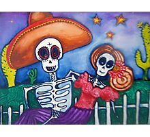 cartoon Mexican day of the dead art Photographic Print