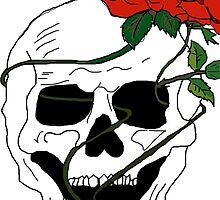 Skull & Roses by katiezhangg