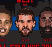 TEAM WEST - All Star NYC 2015 - SMILE DESIGN Sticker