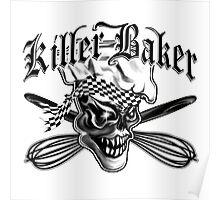 Baker Skull 5: Killer Baker and Crossed Whisks Poster