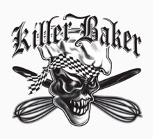 Baker Skull 5: Killer Baker and Crossed Whisks T-Shirt