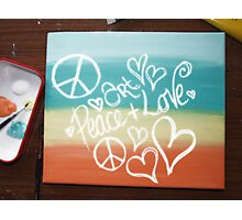 Art, Peace + Love Photographic Print