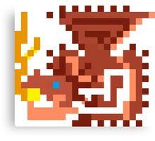 Pixel Rathalos Canvas Print