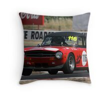 Red 6 Throw Pillow