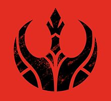 Rebels Segmented Logo (Black on Red) by JoshBeck
