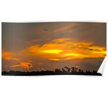 Sunset at Iguaçu Poster