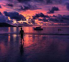 Patong beach sunset by Robyn Lakeman