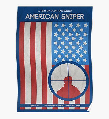 American Sniper Minimalist Movie Poster Poster