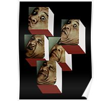 FIVE BOXED HEADS. Poster